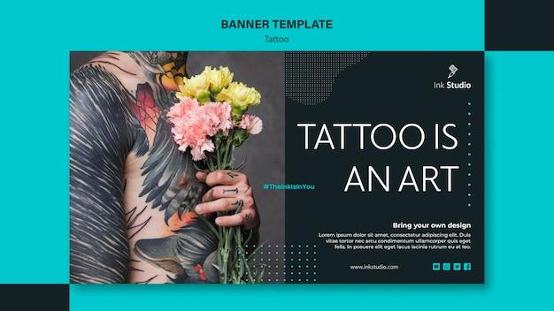 タトゥーはアートバナーテンプレートです 無料 Psd