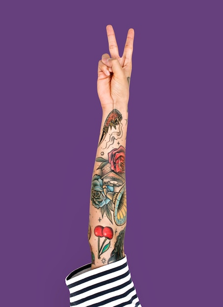 Tattooed arm Premium Psd