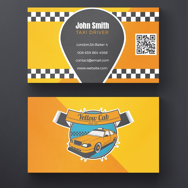 Taxi Business Card Psd File Free Download