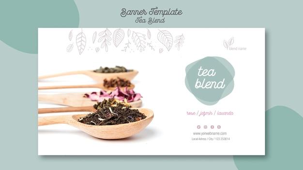 Tea blend landing banner template Free Psd