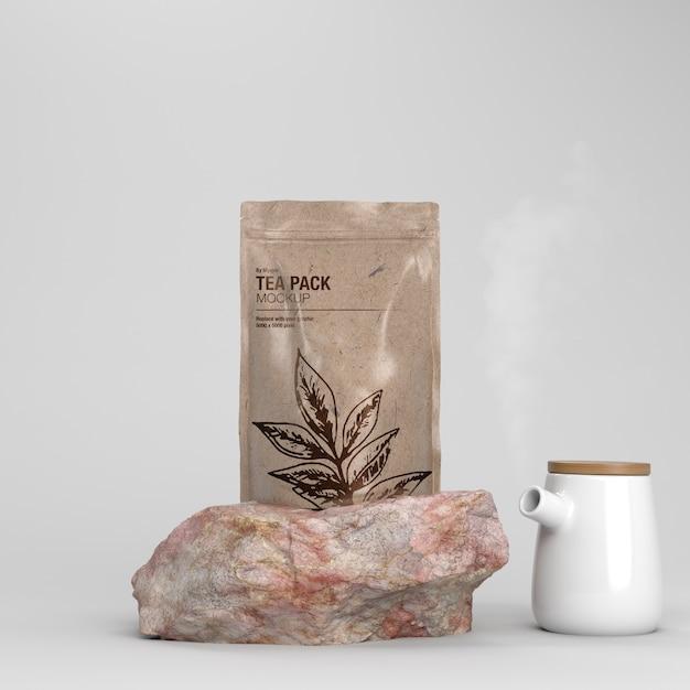 Чайный пакет макет Premium Psd