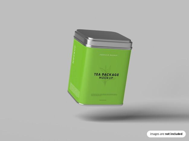 Tea package mockup Premium Psd