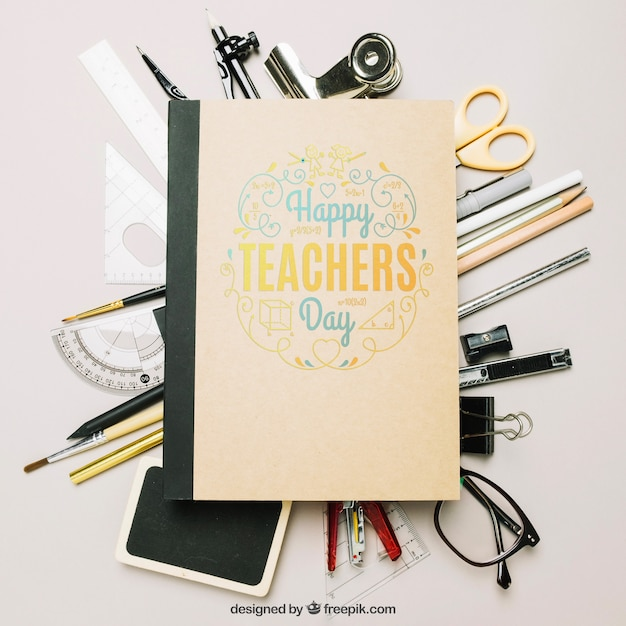 Teachers day mockup Free Psd