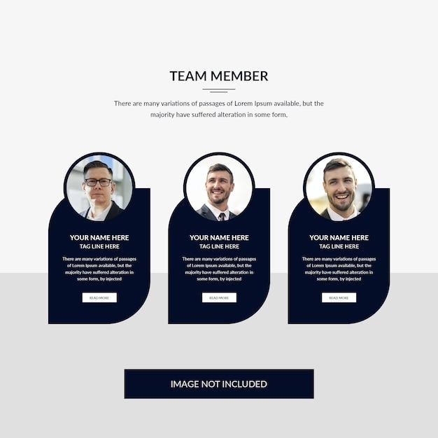 チームメンバーのwebテンプレート Premium Psd