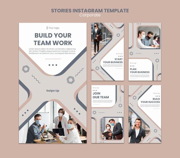 Team work instagram stories template Premium Psd