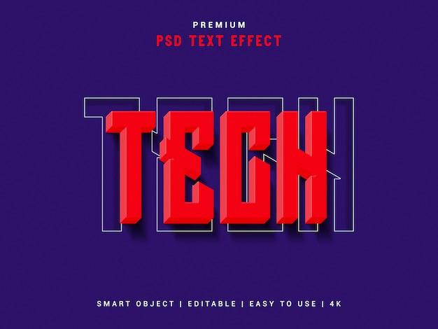 Технический текстовый эффект Premium Psd
