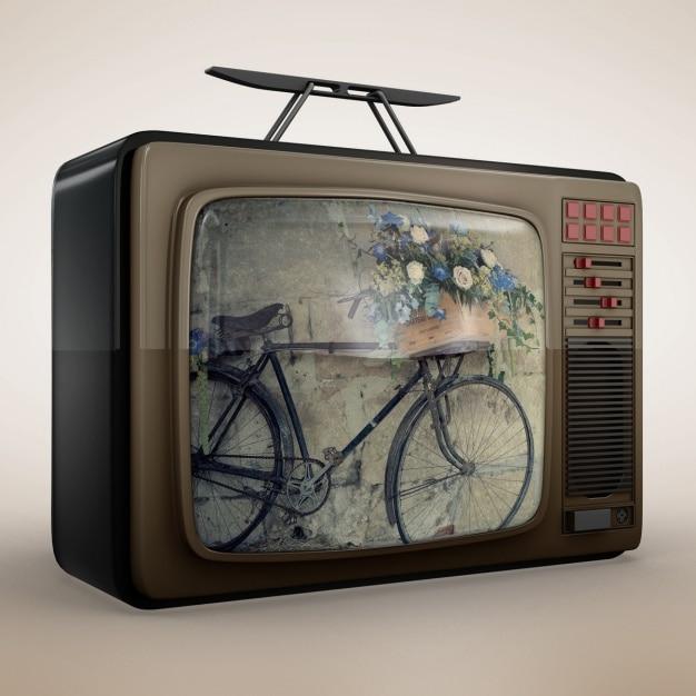 Televisione mock up di progettazione Psd Gratuite
