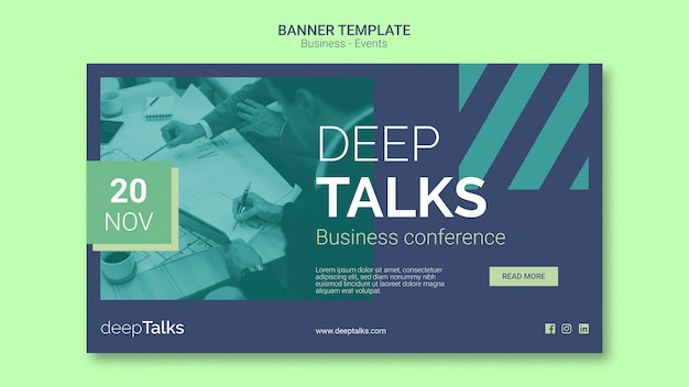 Template for business event banner Free Psd