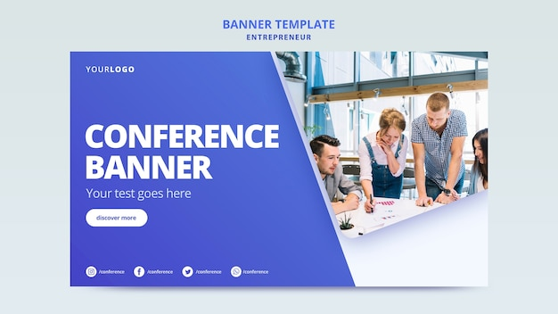 Template for company publicity banner Free Psd