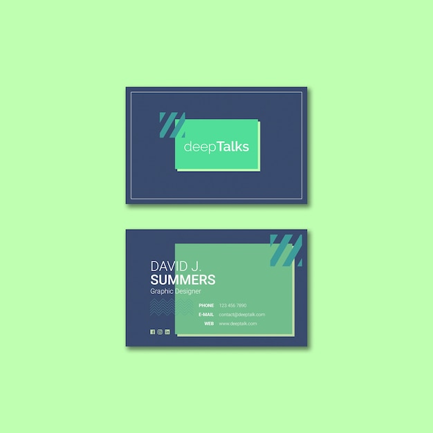 Template concept for business event card Free Psd