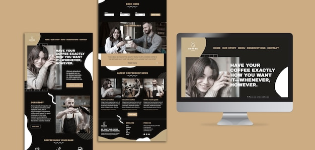 Template concept for coffee shop Free Psd