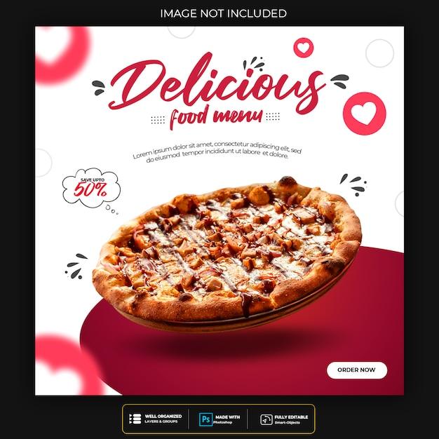 Template for food menu for social media post Premium Psd