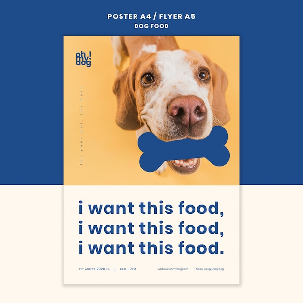 개밥 디자인 전단지 템플릿 무료 PSD 파일
