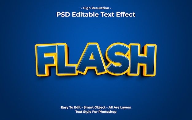 플래시 텍스트 효과 템플릿 프리미엄 PSD 파일