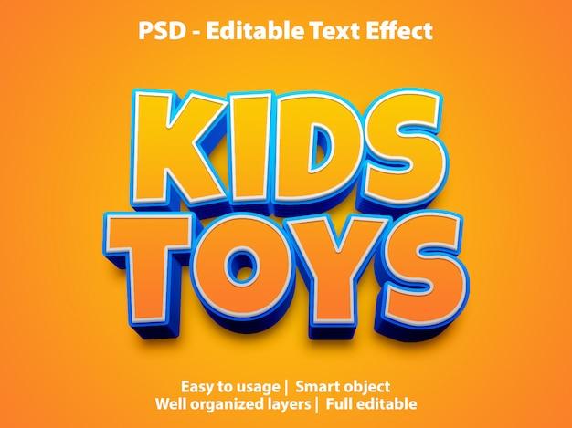Шаблон текстового эффекта детские игрушки Premium Psd