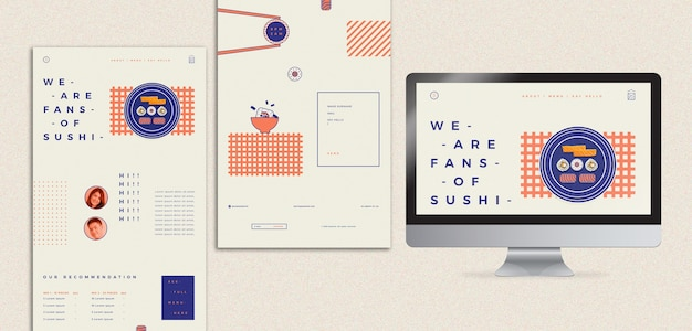 寿司レストランのテンプレート 無料 Psd