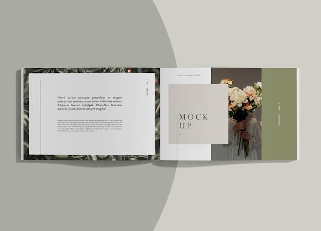 텍스트와 꽃 편집 잡지 모형 무료 PSD 파일