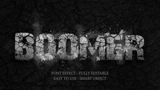 Text effect 3d rock is broken and explosive Premium Psd