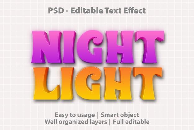텍스트 효과 야간 조명 템플릿 프리미엄 PSD 파일