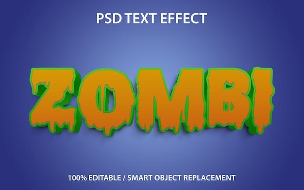 テキスト効果ゾンビテンプレート Premium Psd
