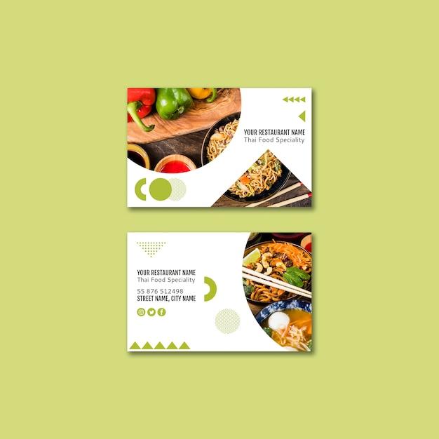 Thai restaurant business card Free Psd