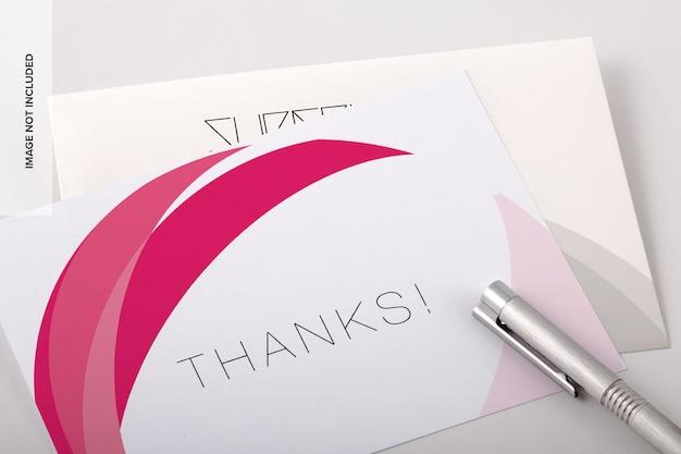 Thank you card psd mockup Premium Psd