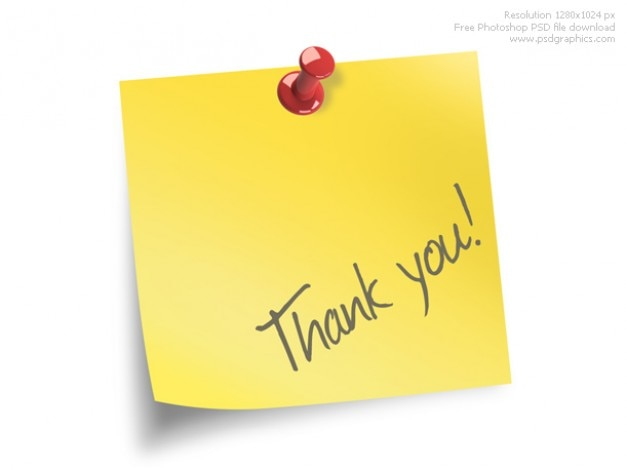 Thank You Note Psd File  Free Download