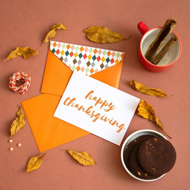 Thanksgiving greeting card mock up Premium Psd