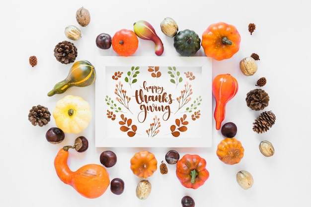 Thanksgiving mockup Free Psd