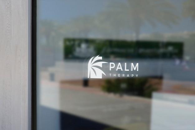 치료 스파 창 로그인 로고 모형 프리미엄 PSD 파일