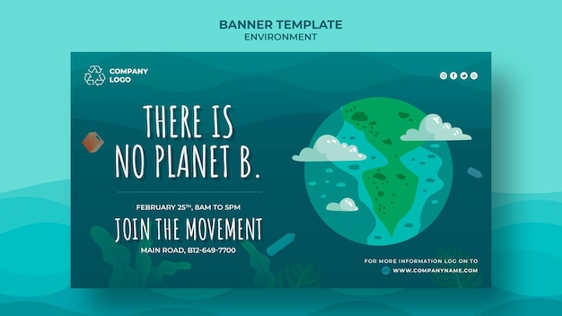 There is no other planet for us banner Free Psd