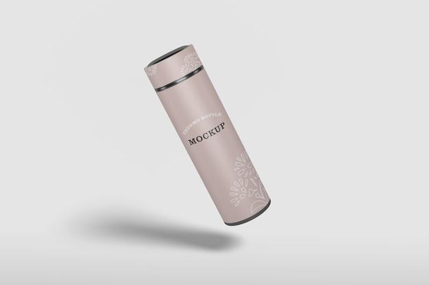 Изолированный макет бутылки с водой термоса Premium Psd
