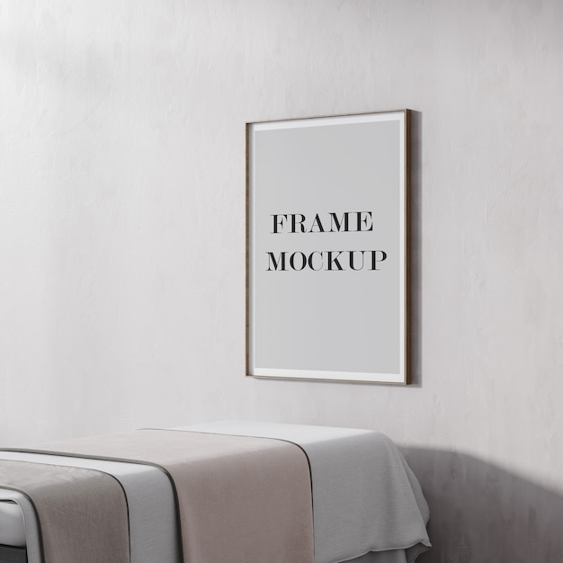 Thin poster and picture frame mockup Premium Psd