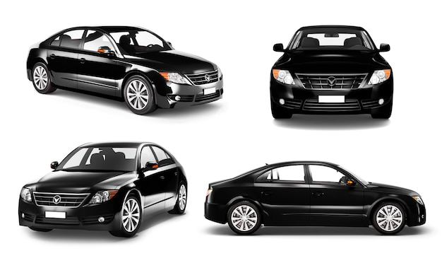 Three dimensional image of car Premium Psd