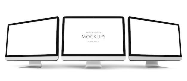 コンピュータの3次元画像 Premium Psd