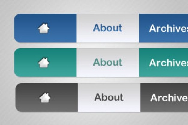 Three navigation menu PSD material Free Psd