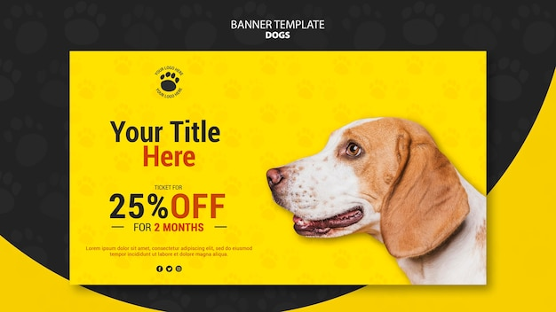 Ticket discount banner template Free Psd