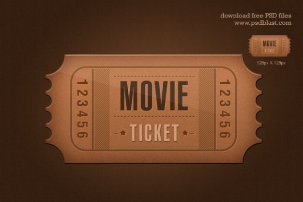 Ticket icon psd psd file free download for Ticket template psd