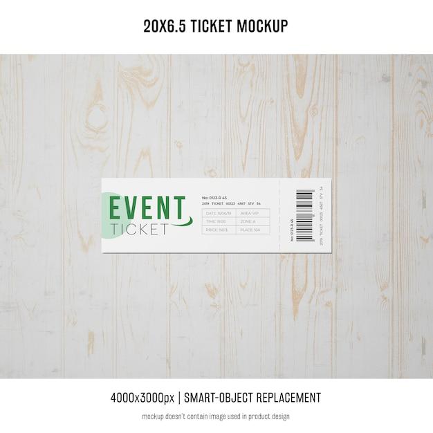 Ticket mockup Free Psd