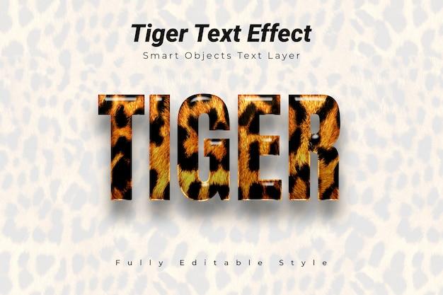Tiger text effect Premium Psd