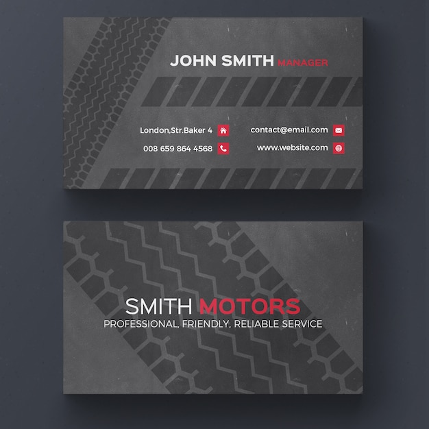 Tire print business card psd file free download tire print business card free psd colourmoves