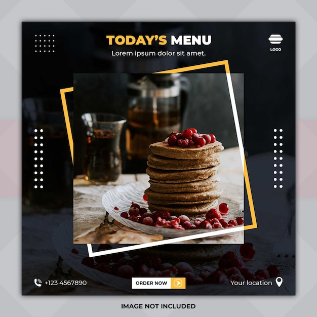 Today's menu banner template Premium Psd