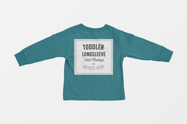 Mockup di maglietta a maniche lunghe per bambino Psd Gratuite