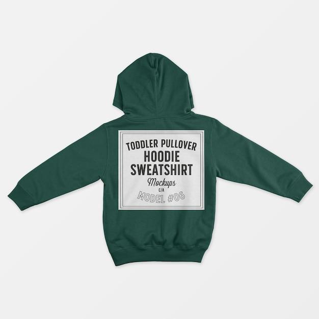 Toddler pullover hoodie sweatshirt mockup Free Psd