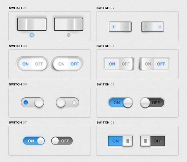 Toggle Switches Pack Psd File Free Download