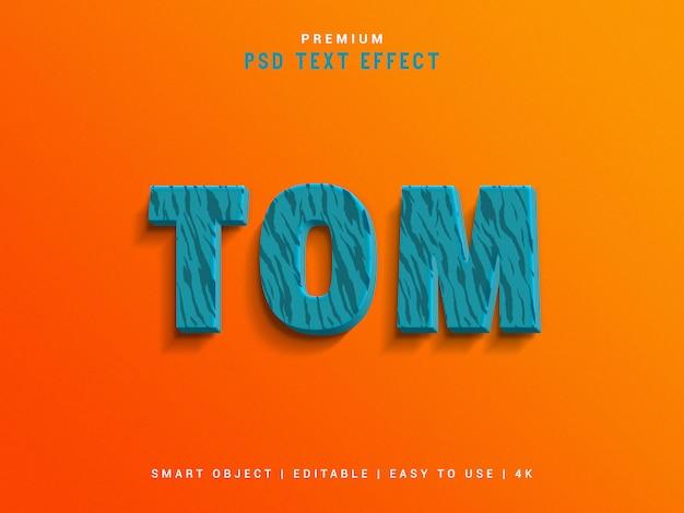 Создатель текстовых эффектов tom Premium Psd