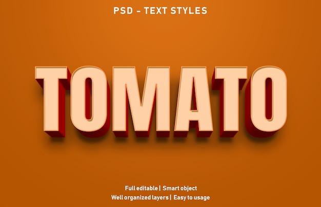 トマトテキスト効果スタイルテンプレート Premium Psd
