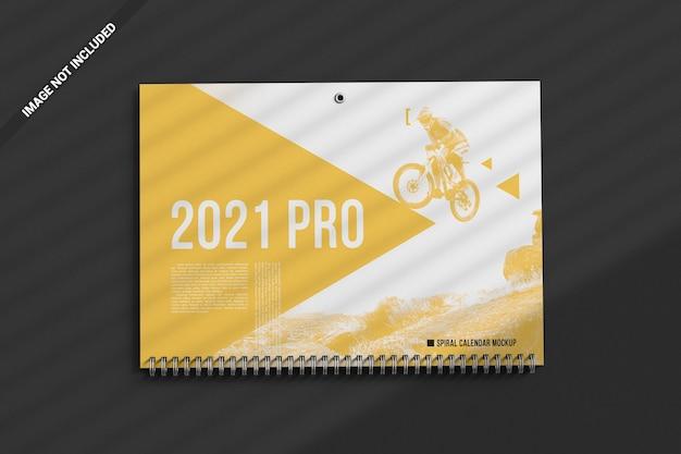 Верхнее рекламное поле макета настенного спирального календаря Premium Psd
