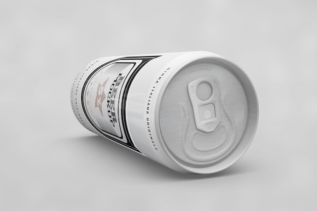 Top of a beer can mock up Free Psd