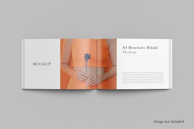 Top landscape magazine mockup design Premium Psd